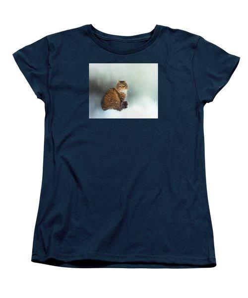 Starting To Snow Again Women's T-Shirt (Standard Cut) by Theresa Tahara