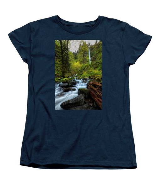 Women's T-Shirt (Standard Cut) featuring the photograph Starvation Creek And Falls by Ryan Manuel