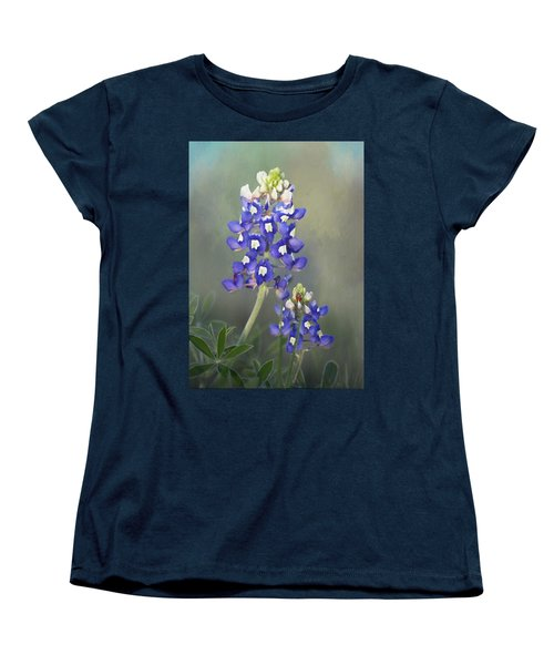 Women's T-Shirt (Standard Cut) featuring the photograph State Flower Of Texas by David and Carol Kelly