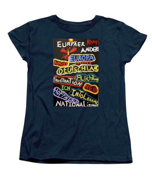 State Of Europe Women's T-Shirt (Standard Cut) by Darrell Black