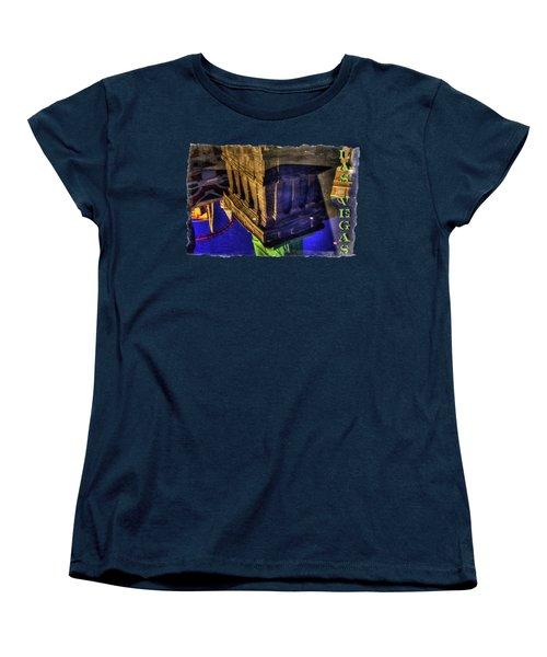 Statue Of Liberty Las Vegas Reflections Women's T-Shirt (Standard Cut) by Roger Passman
