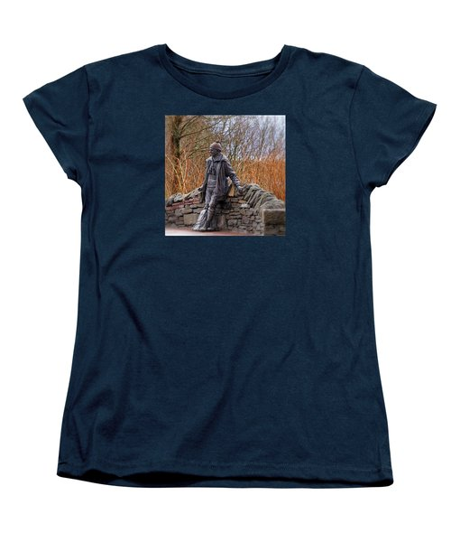 Statue Of Tom Weir Women's T-Shirt (Standard Cut) by Jeremy Lavender Photography