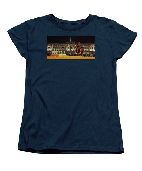 Women's T-Shirt (Standard Cut) featuring the photograph Statues View Of Buckingham Palace by Terri Waters