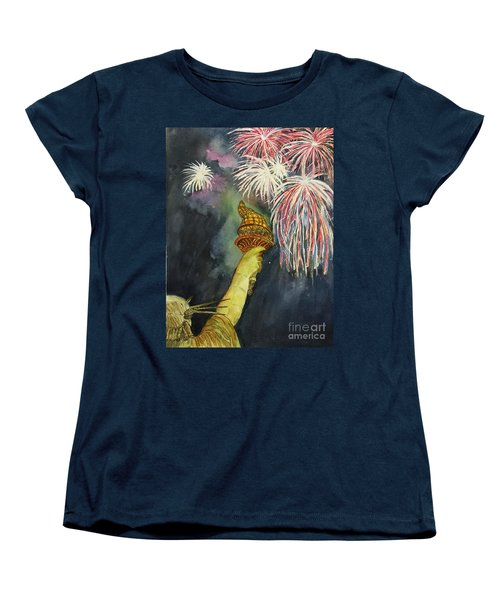 Statute Of Liberty Women's T-Shirt (Standard Cut) by Lucia Grilletto