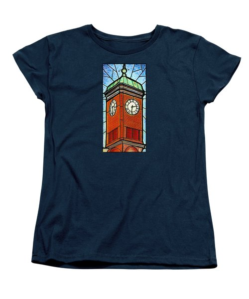 Staunton Clock Tower Landmark Women's T-Shirt (Standard Cut) by Jim Harris