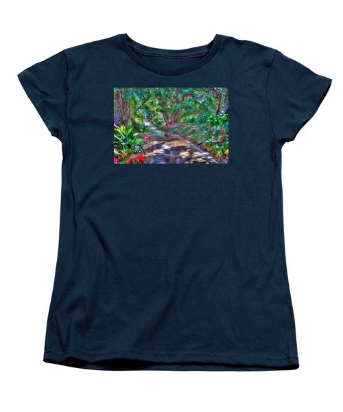 Women's T-Shirt (Standard Cut) featuring the photograph Stay On Your Path by TC Morgan