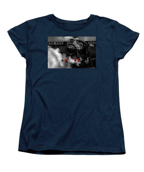 Steam Train Selective Colour Women's T-Shirt (Standard Cut) by Ken Brannen
