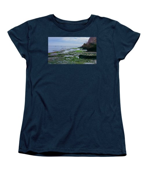 Steamer Lane Santa Cruz Women's T-Shirt (Standard Cut) by Mark Barclay
