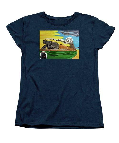 Steaming West Bound Women's T-Shirt (Standard Cut) by Margaret Harmon