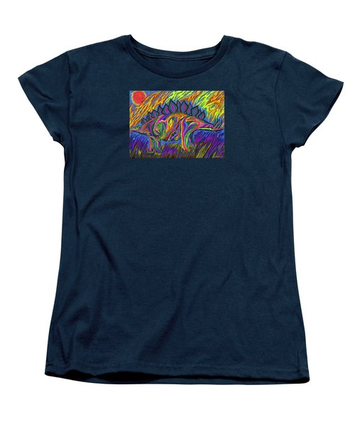 Stegasaurus Colorado Women's T-Shirt (Standard Cut) by Robert SORENSEN