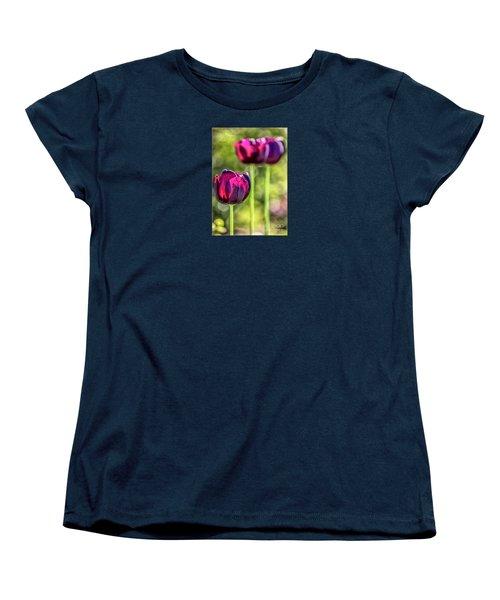 Stepping Out Women's T-Shirt (Standard Cut) by Jean OKeeffe Macro Abundance Art