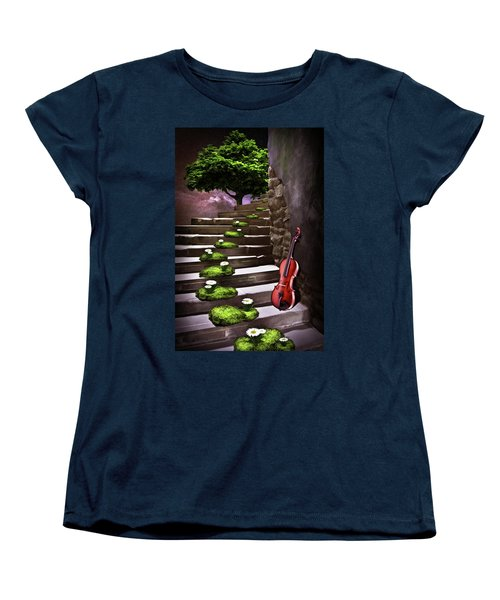 Steps Of Happiness Women's T-Shirt (Standard Cut) by Mihaela Pater