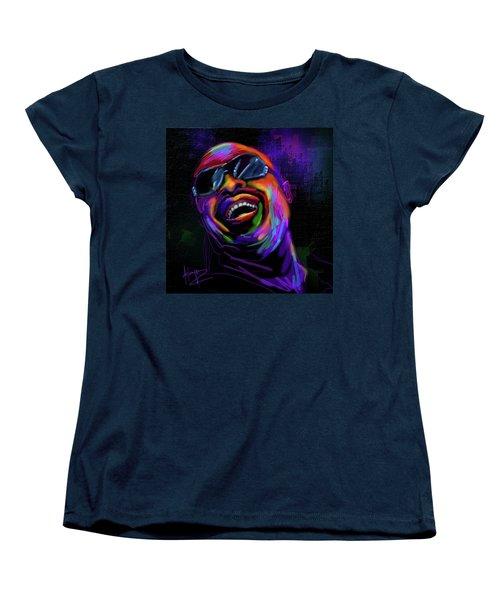 Stevie Wonder Women's T-Shirt (Standard Cut) by DC Langer