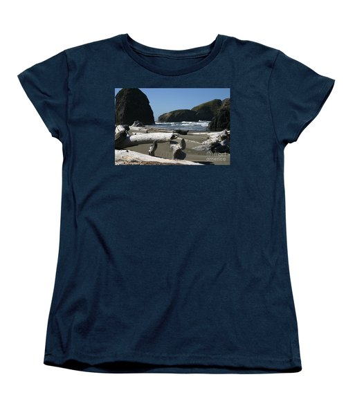 Sticks And Stones Women's T-Shirt (Standard Cut) by Marie Neder