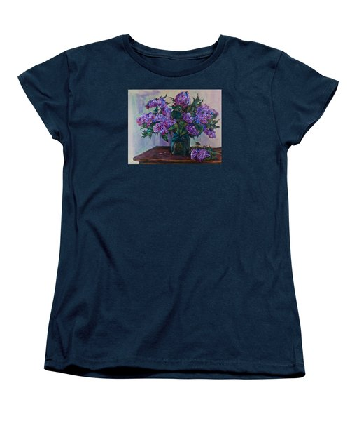 Still Life With Lilac  Women's T-Shirt (Standard Cut) by Maxim Komissarchik