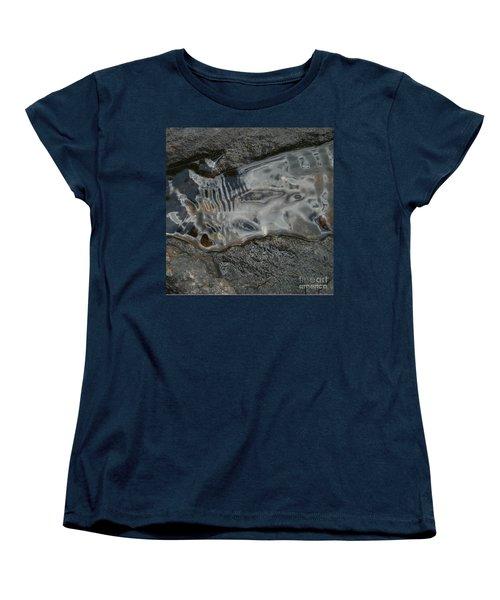 Still Stream Skeleton Screams Women's T-Shirt (Standard Cut) by Carol Lynn Coronios