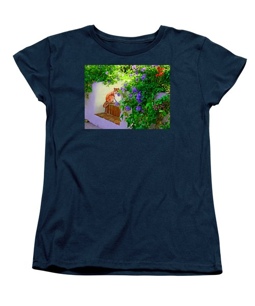 Women's T-Shirt (Standard Cut) featuring the painting Still Waiting by David  Van Hulst