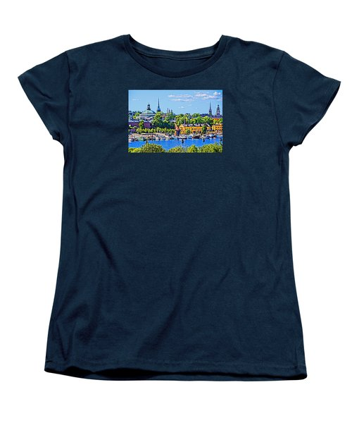 Women's T-Shirt (Standard Cut) featuring the photograph Stockholm Waterfront by Dennis Cox WorldViews