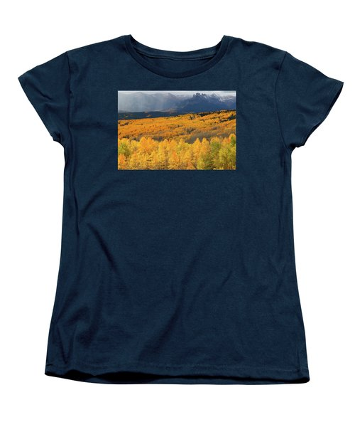 Storm At Ohio Pass During Autumn Women's T-Shirt (Standard Cut) by Jetson Nguyen
