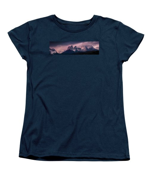 Storm On The Peaks Women's T-Shirt (Standard Cut) by Andrew Matwijec