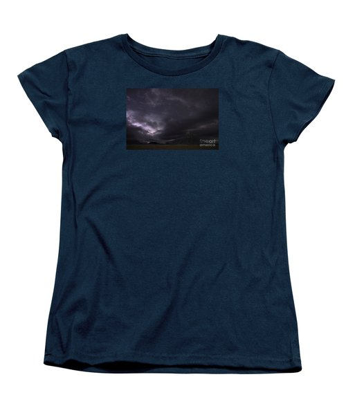 Women's T-Shirt (Standard Cut) featuring the photograph Storm Over Factory Butte by Keith Kapple