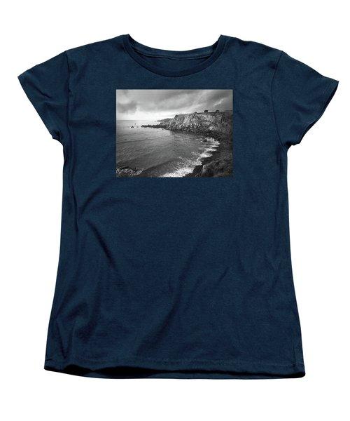 Storm Over The Eastern Shoreline Of Angra Do Heroismo Terceira Women's T-Shirt (Standard Cut) by Kelly Hazel