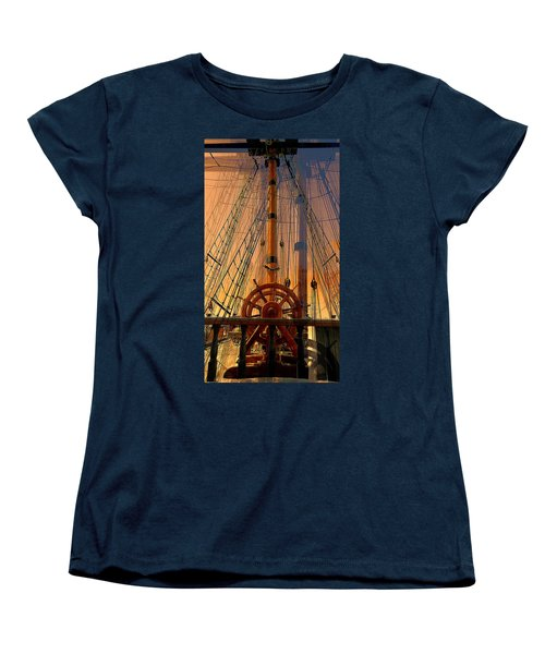 Women's T-Shirt (Standard Cut) featuring the photograph Storm Ship Of Old by Lori Seaman