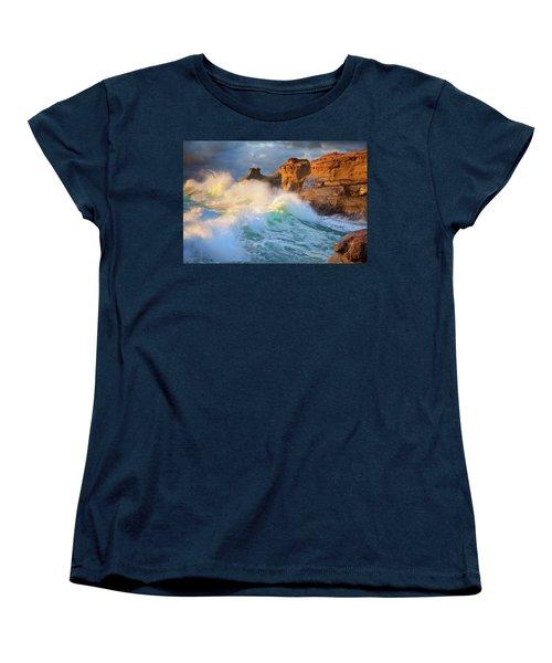 Women's T-Shirt (Standard Cut) featuring the photograph Storm Watchers by Darren White