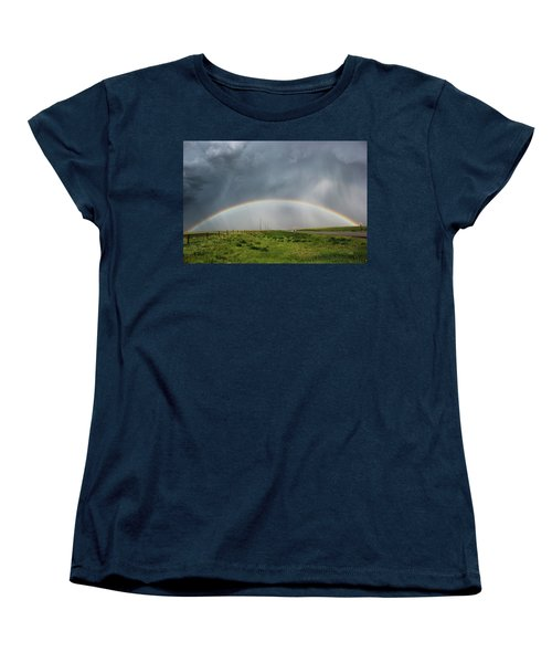 Stormy Rainbow Women's T-Shirt (Standard Cut) by Ryan Crouse