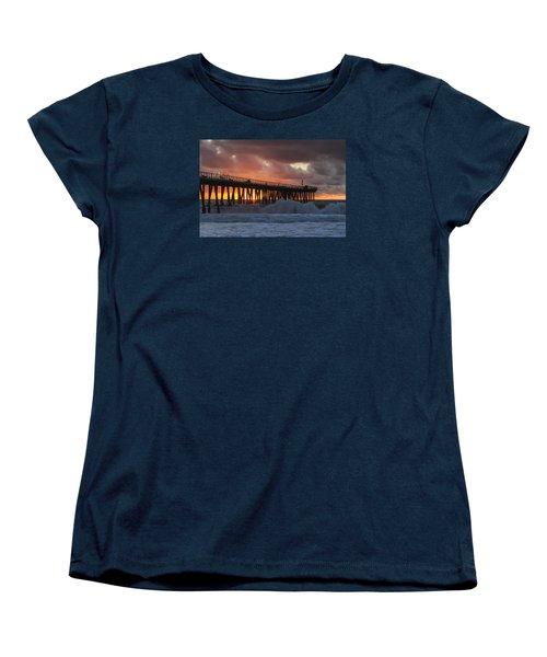 Stormy Sunset Women's T-Shirt (Standard Cut) by Ed Clark