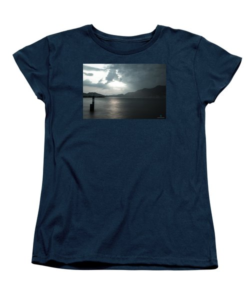 Stormy Sunset On The Lake Women's T-Shirt (Standard Cut) by Cesare Bargiggia