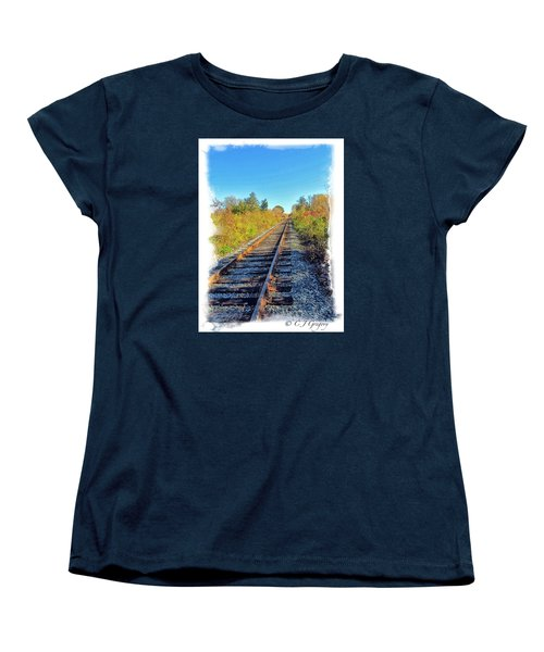 Women's T-Shirt (Standard Cut) featuring the photograph Straight Track by Constantine Gregory