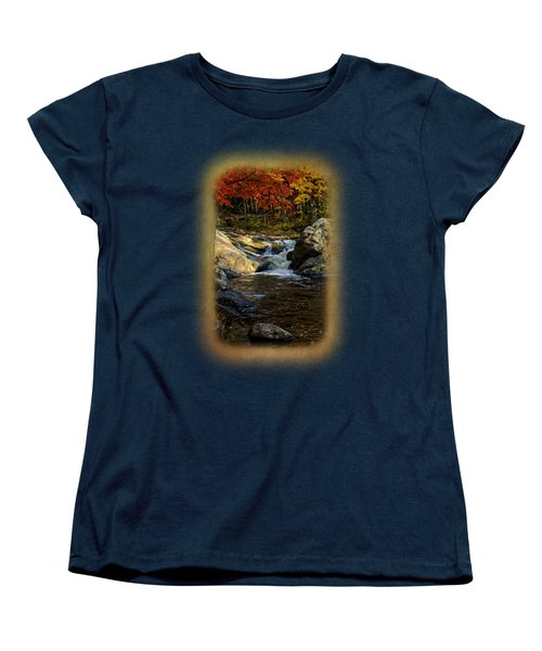 Stream In Autumn No.17 Women's T-Shirt (Standard Cut) by Mark Myhaver