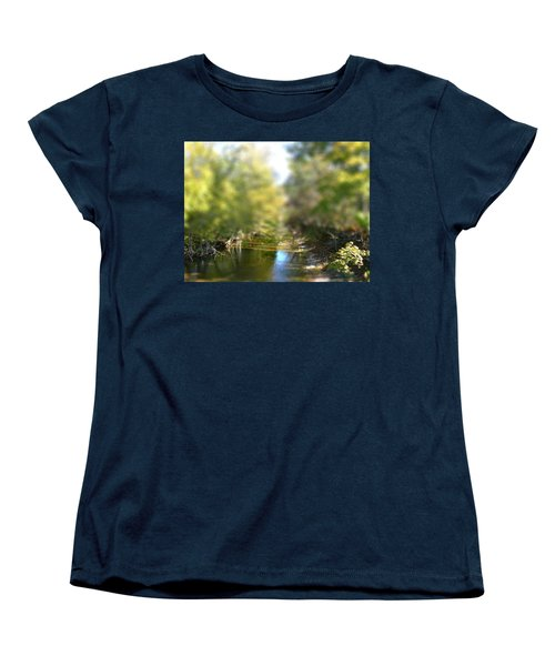 Women's T-Shirt (Standard Cut) featuring the photograph Stream Reflections by EricaMaxine  Price