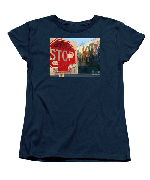 Street Art Washington D.c.  Women's T-Shirt (Standard Cut) by Clay Cofer