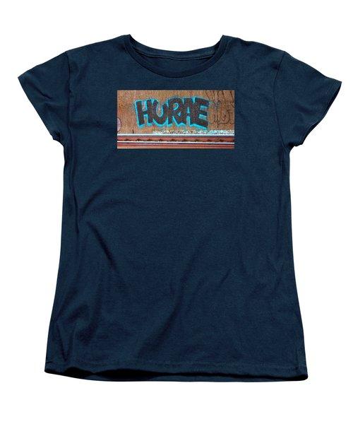 Street Graffiti-hooray Women's T-Shirt (Standard Cut) by Martin Cline