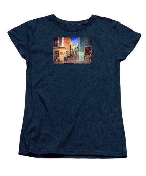 Street In Guanajuato Women's T-Shirt (Standard Cut) by John  Kolenberg