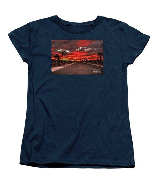 Women's T-Shirt (Standard Cut) featuring the photograph Street Sunset by Robert Bales