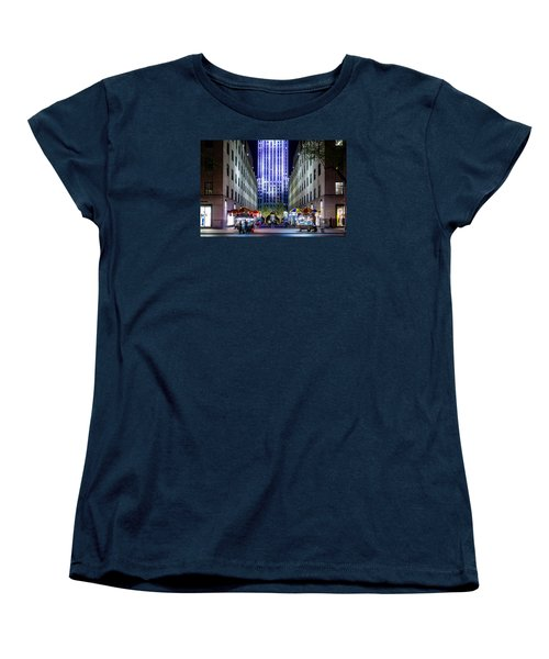 Women's T-Shirt (Standard Cut) featuring the photograph Rockefeller Center by M G Whittingham