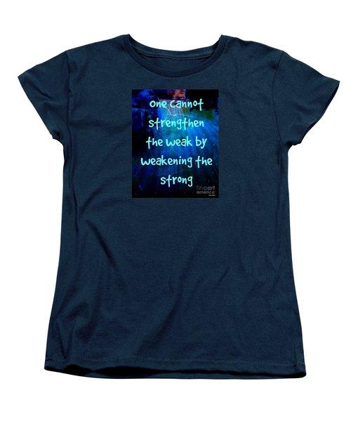 Strength V Weakness Women's T-Shirt (Standard Cut) by Leanne Seymour
