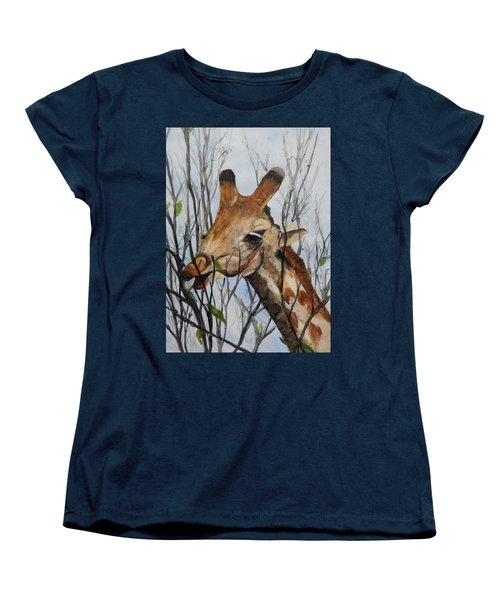 Women's T-Shirt (Standard Cut) featuring the painting Stretch by Betty-Anne McDonald