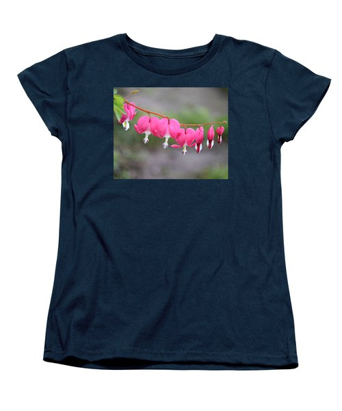 String Of Hearts Women's T-Shirt (Standard Cut) by Kathy M Krause