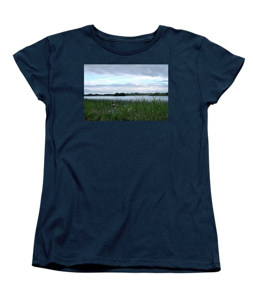 Women's T-Shirt (Standard Cut) featuring the photograph Strolling By The Lake by Terence Davis