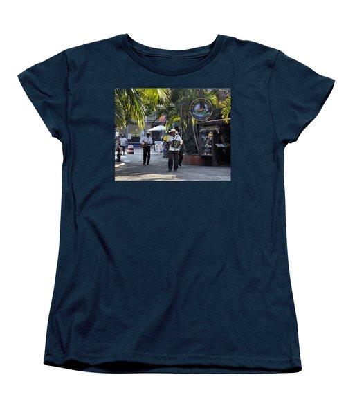 Strolling Musicians Women's T-Shirt (Standard Cut) by Jim Walls PhotoArtist
