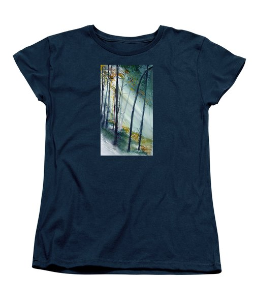 Women's T-Shirt (Standard Cut) featuring the painting Study The Trees by Allison Ashton