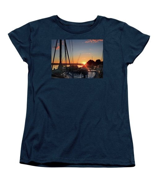 Sturgeon Bay Sunset Women's T-Shirt (Standard Cut) by Rod Seel