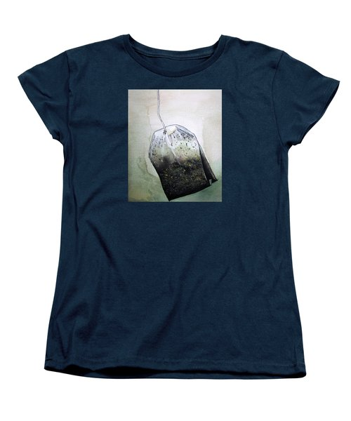 Submerged Tea Bag Women's T-Shirt (Standard Cut) by Mary Ellen Frazee
