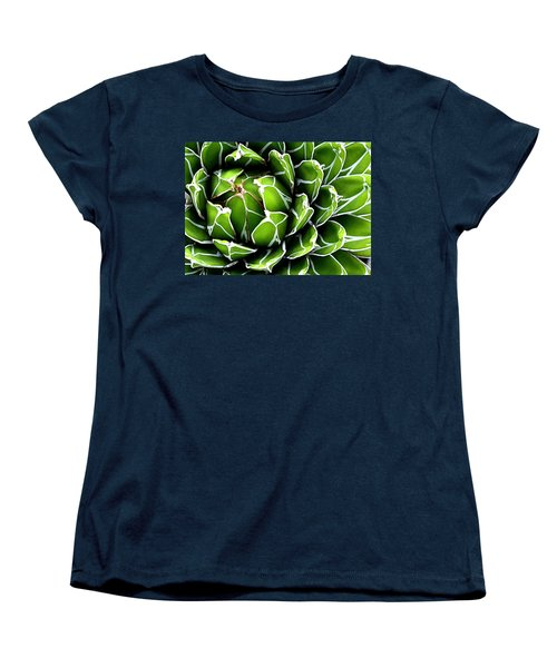 Women's T-Shirt (Standard Cut) featuring the photograph Succulent In Color by Ranjini Kandasamy