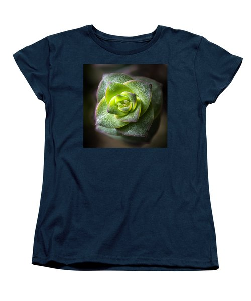 Women's T-Shirt (Standard Cut) featuring the photograph Succulent Plant by Catherine Lau