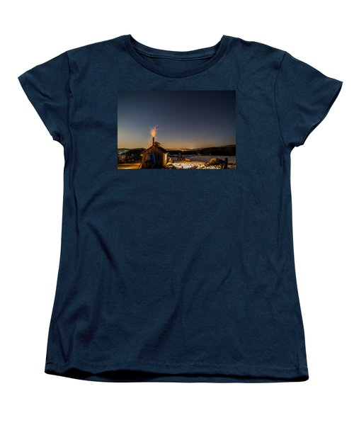Sugaring View With Stars Women's T-Shirt (Standard Cut) by Tim Kirchoff